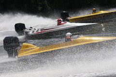 Speed Boats. In a race Royalty Free Stock Photography