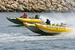 Speed boats stock image