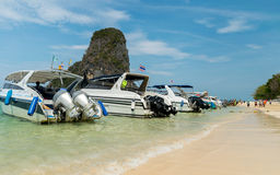 Speed boats Stock Images