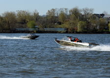 Speed boats Ka-Khem on the river Moscow. Stock Photography