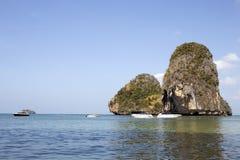 Speed Boats on Phra Nang beach Royalty Free Stock Image