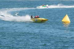 Speed boats racing Royalty Free Stock Photography