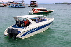Speed boats in the sea ,motor boat Stock Images