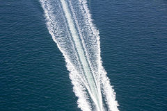 Speed boats trace Royalty Free Stock Photo