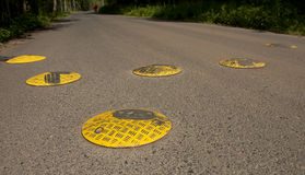 Speed bump Royalty Free Stock Photography