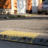 Speed bump. In a local street Royalty Free Stock Images