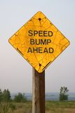 Speed bump ahead Stock Photography