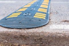 Speed bump . Speed bump on asphalt road stock photography