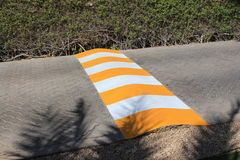 Speed bump on the road Royalty Free Stock Photo