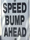 Speed bump sign Stock Photo