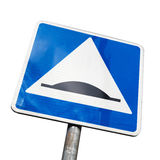 Speed Bump. Square road sign isolated Royalty Free Stock Photography