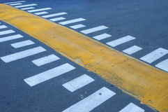 Speed bumps. On the asphalt road royalty free stock image