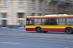 Speed bus Royalty Free Stock Image