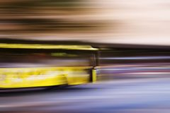 Speed Bus Abstract Royalty Free Stock Image