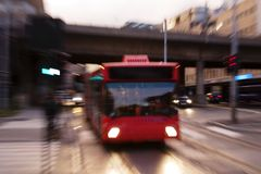 Speed Bus Abstract Stock Image
