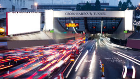 Speed busy Cross-harbour Tunnel Stock Photos