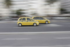 Speed cabs in Rio, Brazil stock photography