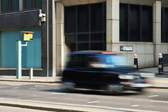 Speed Camera. A speed camera in London with a taxi Royalty Free Stock Photography