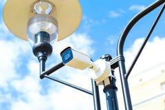 Speed camera on avtobane.Modern speed measurement camera royalty free stock photos