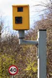Speed Camera with limit sign Royalty Free Stock Photography