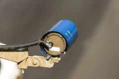 Speed camera monitoring traffic on UK Motorway.  stock photos