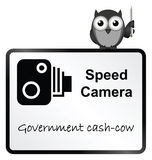 Speed Camera. Monochrome Speed Camera Government revenue sign  on white background Stock Photos
