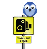 Speed camera sign Stock Photo