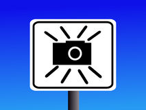 Speed camera sign Royalty Free Stock Photo