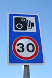 Speed camera sign Stock Image