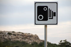 Speed camera sign Royalty Free Stock Photography