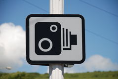 Speed camera sign, Folkestone. A roadside speed camera sign in Folkestone in Kent, England Royalty Free Stock Image