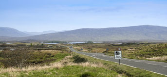 Speed cameras sign rannoch moor scotland Royalty Free Stock Image