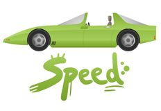 Speed car Royalty Free Stock Image