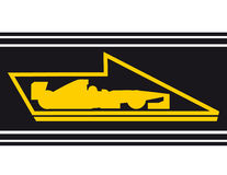 Speed car flag. Creative design of speed car flag Stock Photos