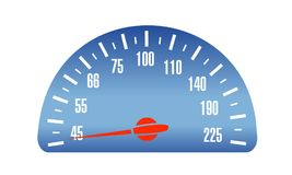 Speed Car mileage, vector illustrator. Speedometer scale vector illustration. Speed Car device. Isolated picture for web or print design Stock Images