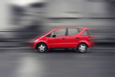 Speed car. Motion blur background Stock Images