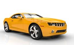 Speed Car Yellow Royalty Free Stock Photos