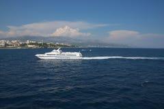 Speed Catamaran. Stock Photos