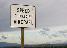 Speed checked by aircraft. Royalty Free Stock Photos