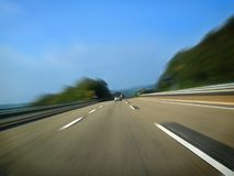 Speed concept on highway Royalty Free Stock Image