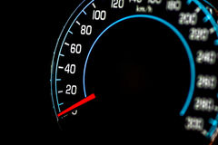 Speed control dashboard Stock Photo