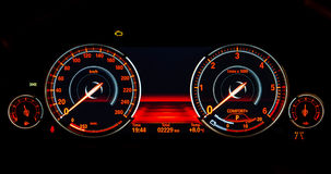 Speed control dashboard Stock Images