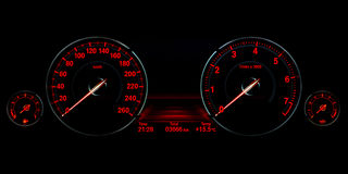 Speed control dashboard Stock Photography