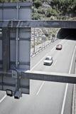 Speed control radar. Behind a traffic signal Stock Photography