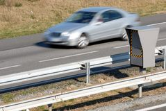 Speed control with a radar royalty free stock images