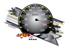 Speed counter Royalty Free Stock Photos