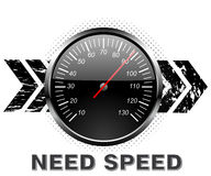 Speed Counters. Car racing speed counter, need for speed Stock Image