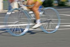 Speed cycle blur. Cycle race - high speed cycle blur voluntary stock photo