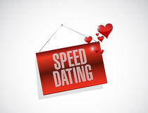 speed dating banner sign concept Royalty Free Stock Image