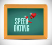 speed dating board sign concept illustration Stock Photos